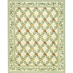 Safavieh Hand-hooked Garden Trellis Ivory Wool Rug - 7'9 x 9'9 - Thumbnail 0