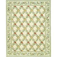 Safavieh Hand-hooked Garden Trellis Ivory Wool Rug - 7'9 x 9'9