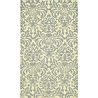 Safavieh Hand-hooked Damask Beige-Yellow/ Grey Wool Rug - 2'9 x 4'9