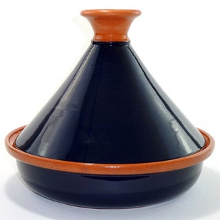 Handmade Cobalt Blue 12-inch Cookable Tagine (Tunisia)