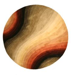Hand-tufted Wool Contemporary Abstract Desertland Rug (6' Round) - Thumbnail 1