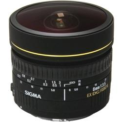 Sigma 8mm F3.5 FISHEYE EX Circular DG Lens For Nikon