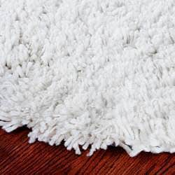 Safavieh Classic Ultra Handmade White Shag Rug (2' x 3') - Thumbnail 1