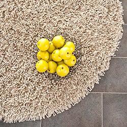safavieh classic ultra handmade taupe shag rug 6u0027 round