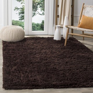 Safavieh Classic Ultra Handmade Chocolate Brown Shag Rug (3' x 5')