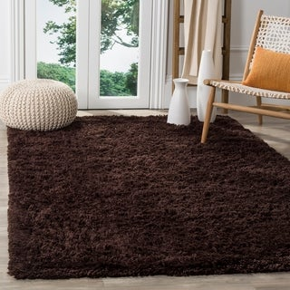 Safavieh Classic Ultra Handmade Chocolate Brown Shag Rug (5' x 8')