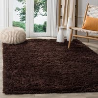 Safavieh Classic Ultra Handmade Chocolate Brown Shag Rug (7'6 x 9'6)