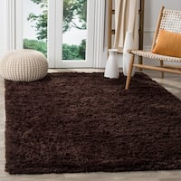 Safavieh Classic Ultra Handmade Chocolate Brown Shag Rug - 7'6 x 9'6