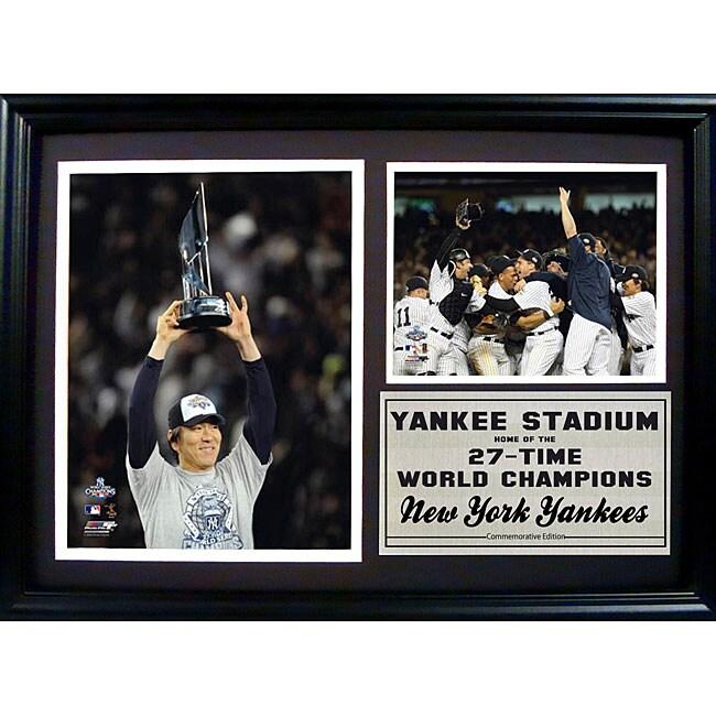 New York Yankees World Champions Hideki Matsui Photo Frame