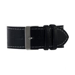 Geneva Platinum Men's Leather Strap Watch