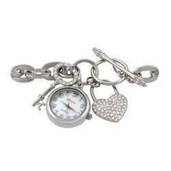 Geneva Platinum Women's Lock and Key Charm Watch - Thumbnail 1