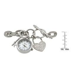 Geneva Platinum Women's Lock and Key Charm Watch - Thumbnail 2