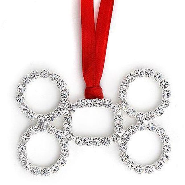 Buddy g 39 s austrian crystal dog bone ornament free for Dog bone ornaments craft