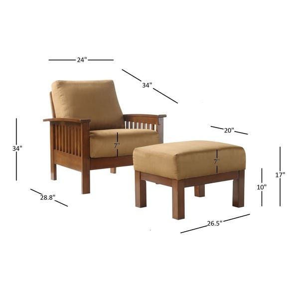 Groovy Shop Hills Mission Style Oak Chair And Ottoman By Inspire Q Dailytribune Chair Design For Home Dailytribuneorg