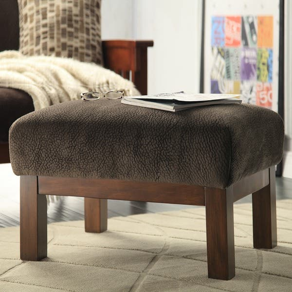 Enjoyable Shop Hills Mission Style Oak Chair And Ottoman By Inspire Q Dailytribune Chair Design For Home Dailytribuneorg