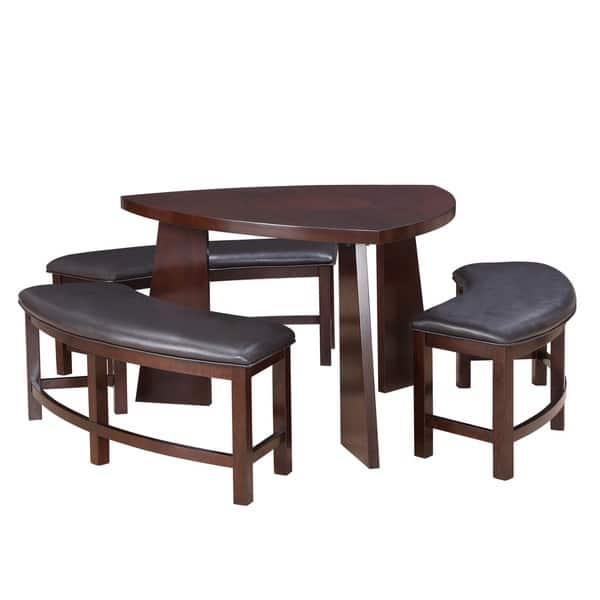 Shop Paradise Merlot Triangle Shaped 4-piece Dining Set by ...