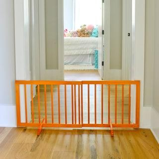 Cardinal Gates Step-over Pet Gate (Oak)