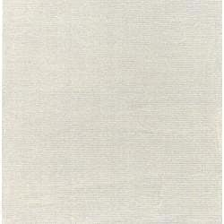 Hand-crafted Solid White Casual Wool Mesa Rug (5' x 8') - Thumbnail 1