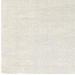 Hand-crafted Solid White Casual Wool Mesa Rug (5' x 8') - Thumbnail 2