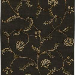 Hand-tufted Brown Wool Selenuim Rug (5' x 8') - Thumbnail 1
