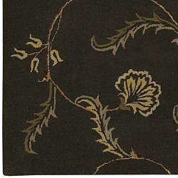 Hand-tufted Brown Wool Selenuim Rug (5' x 8') - Thumbnail 2