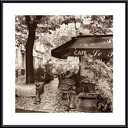 Alan Blaustein 'Cafe, Aix-en-Provence' Metal Framed Art Print