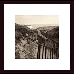Christine Triebert 'Dune Fence' Wood Framed Art Print