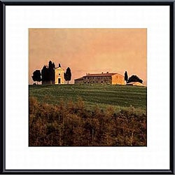 Elizabeth Carmel 'Evening Light, Tuscany' Metal Framed Art Print - Thumbnail 0
