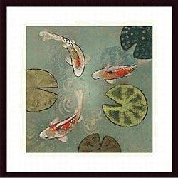 Aleah Koury 'Floating Motion II' Wood Framed Art Print