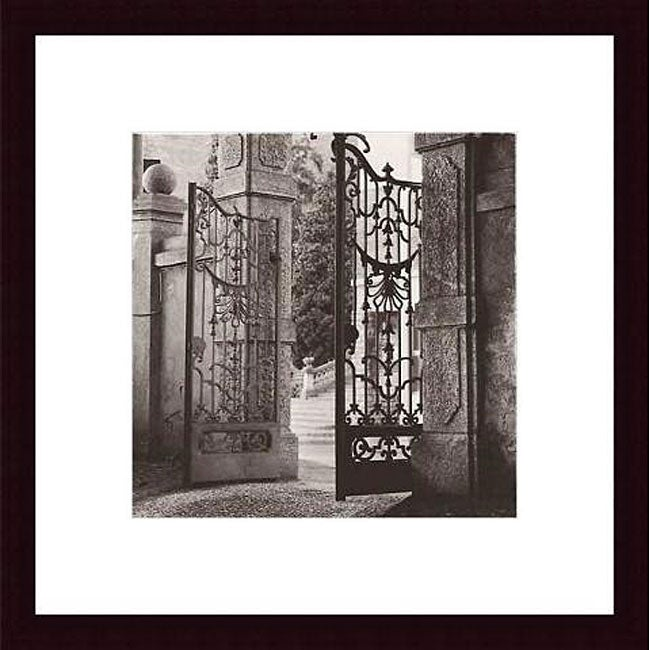 Alan Blaustein 'Giardino Lenno' Wood Framed Art Print