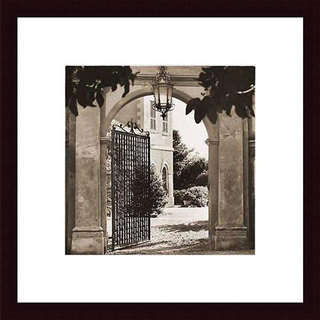 Alan Blaustein 'Giardino Mortola' Wood Framed Art Print