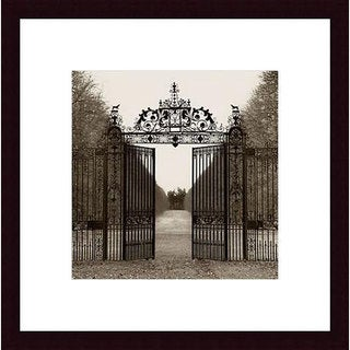 Alan Blaustein 'Hampton Gate' Wood Framed Art Print