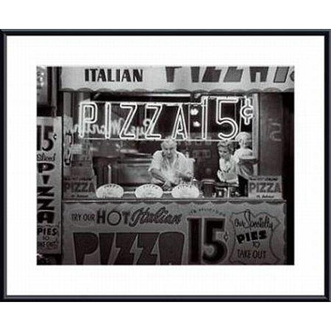 Nat Norman 'Hot Italian Pizza' Metal Framed Art Print