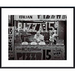 Nat Norman 'Hot Italian Pizza' Metal Framed Art Print
