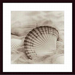 Alan Blaustein 'La Mer 3' Wood Framed Art