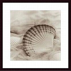 Alan Blaustein 'La Mer 3' Wood Framed Art