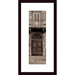 Alan Blaustein 'La Porta Via, Todi' Wood Framed Art Print