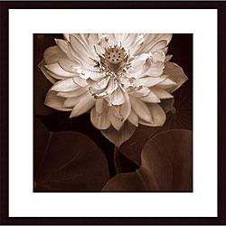 Rebecca Swanson 'Lotus Welcome' Wood Framed Art Print