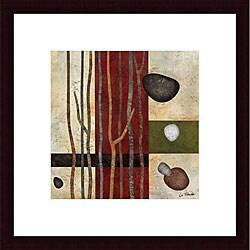 Glenys Porter 'Sticks and Stones V' Wood Framed Art