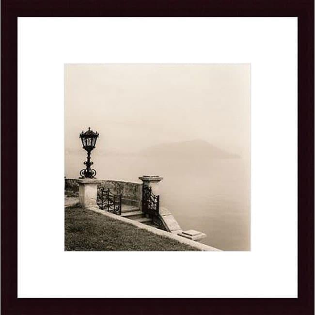 Alan Blaustein 'Tremezzo, Lago di Como' Wood Framed Art Print