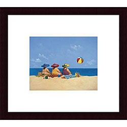 Michael Paraskevas 'Three Ladies Sunning' Wood Framed Art Print