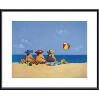 Michael Paraskevas 'Three Ladies Sunning' Metal-framed Art