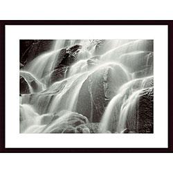 Huntington Witherill 'Waterfall, Yosemite' Wood Framed Art Print