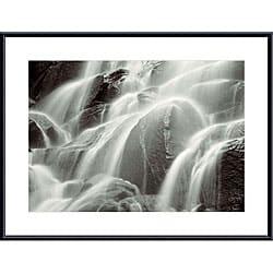 Huntington Witherill 'Waterfall, Yosemite' Metal Framed Art Print