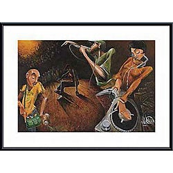 David Garibaldi 'The Get Down' Metal Framed Art