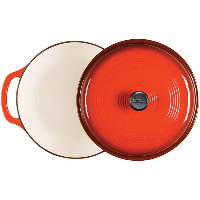 Lodge Red Enamel 6-quart Cast Iron Dutch Oven (EC6D43)