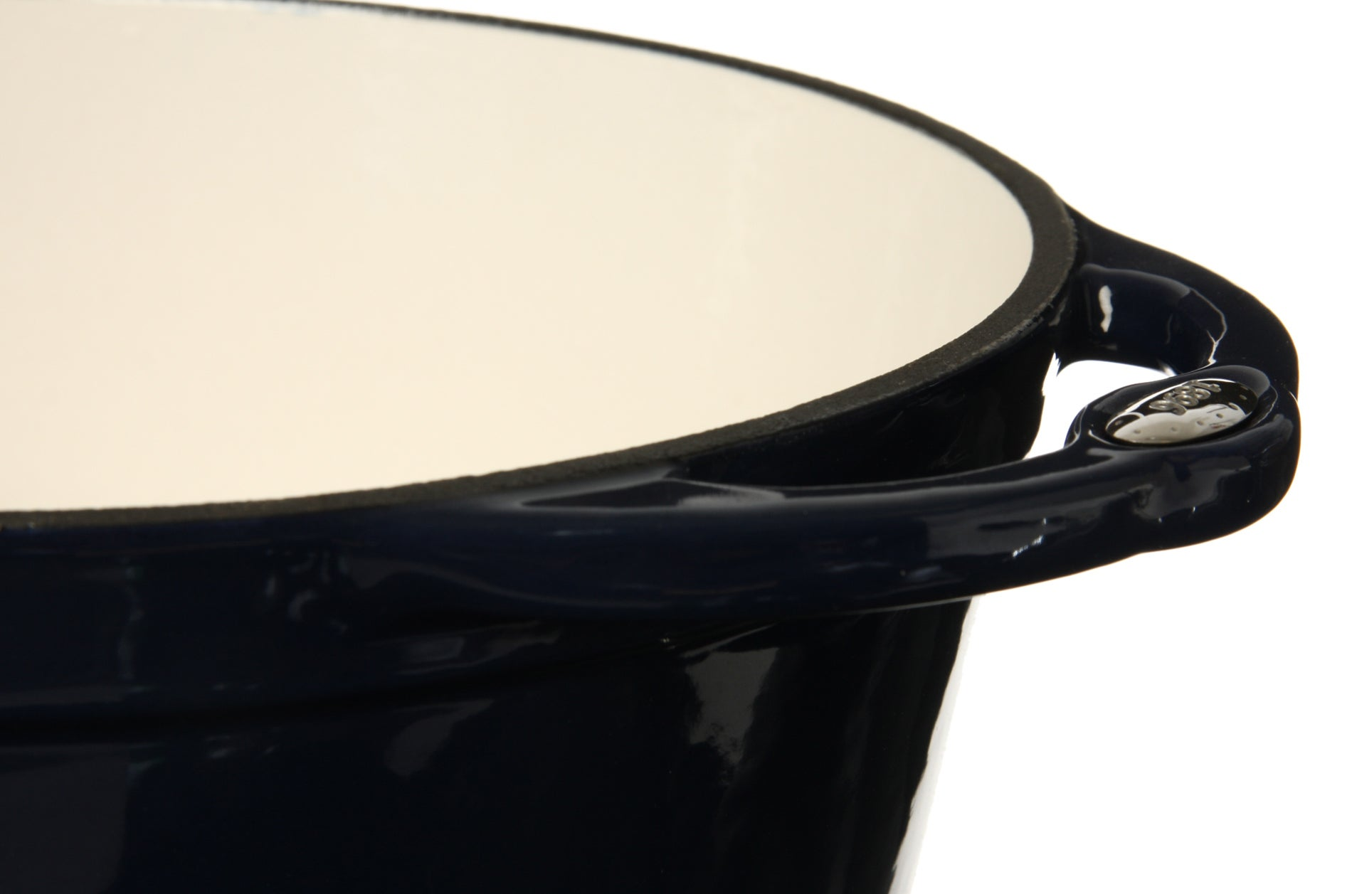 Lodge 'L Series' Blue Enamel 6-quart Dutch Oven - Thumbnail 1