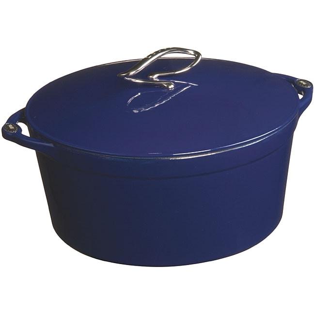 Lodge L Series Blue Enamel 6 Quart Dutch Oven Free