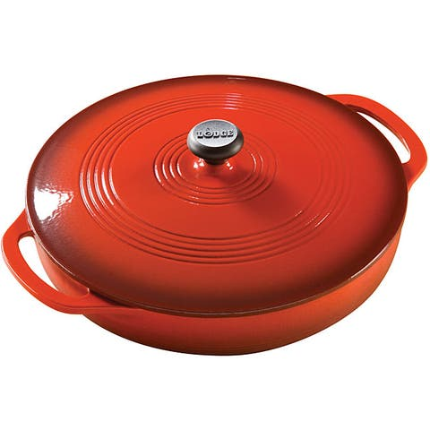 Lodge Red Enamel 3-quart Covered Casserole