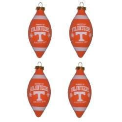 Tennessee Volunteers 4-piece Teardrop Ornament Set - Thumbnail 1